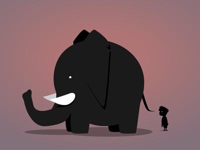 Animatie olifant thumb