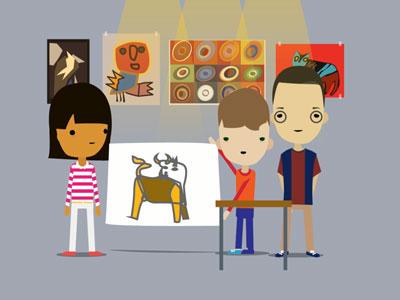 Animatie kunstbalie cultuur educatie spel ontwikkeling
